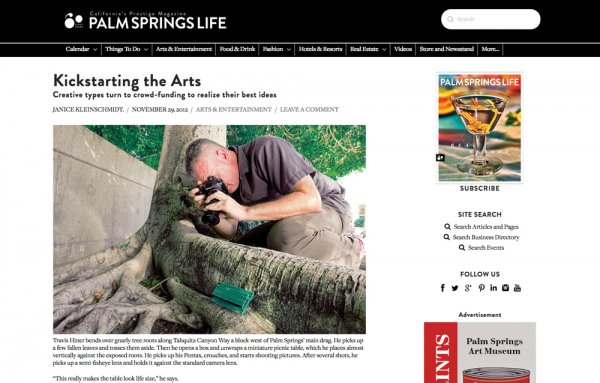 Palm Springs Life: Art + Culture Article