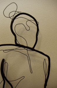 Wire Sculpture Fil Feminin Et Masculin