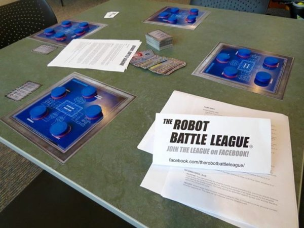 Plastic Made for Battle – part three. The Robot Battle League card game.